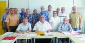 Les membres de l'antenne de Morestel et du Comité du Souvenir Français de la Tour du Pin