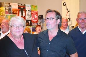 Christophe Alévêque et Mme le maire d'Hauteville