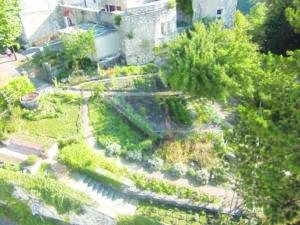 """Vue """"aérienne"""" du jardin de Guichard et Matel"""