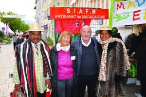 M. Bosco, sa femme, et les responsables de la SIAFM