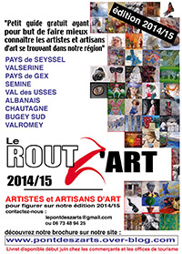 Affiche Le guide du Rout Z'Art  édition 201415   ballad et vous