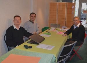 Photo : (de g. à d.) Pascal Lamanthe, Philippe Rodriguez et Jean-Charles Puyou
