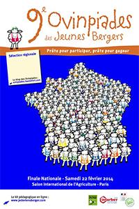9èmes OVINPIADES des JEUNES BERGERS au Salon International de l'Agriculture – Porte de Versailles (Paris) - Samedi 22 février 2014
