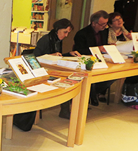 Quelques auteurs au salon du livre à Artemare