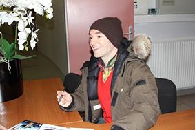 Jonathan Lambert à la salle de l'Intégral à Belley le 28 février 2014