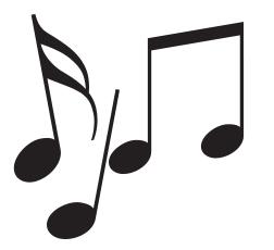 notes de musique ballad et vous