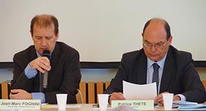 Jean-Marc Fognini et Patrice Thête