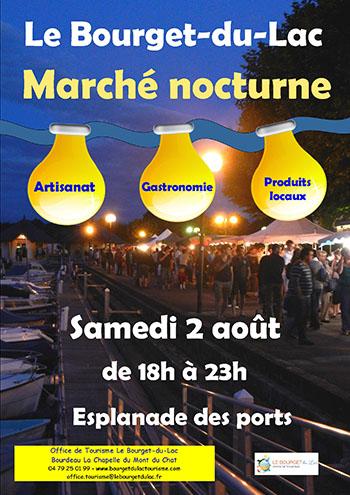 Marché nocturne 2 août bourget du lac ballad et vous 2