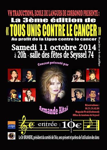 Seyssel Concert contre le cancer 11 octobre ballad et vous