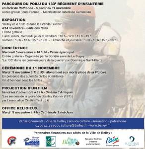 Programme de la Commémoration du centenaire ballad et vous