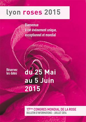 Affiche convention mondiale des roses a lyon 2015 ballad et vous