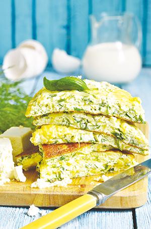 omelette feta menthe