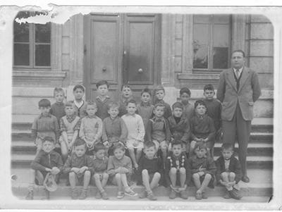 Ecole primaire du promenoir 1955, instituteur Mr Berhet.
