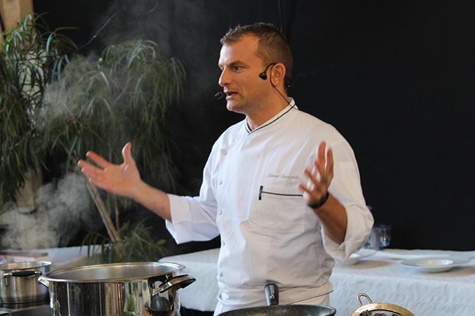 Samuel Cavagnis, chef du restaurant Le Versance à Paris