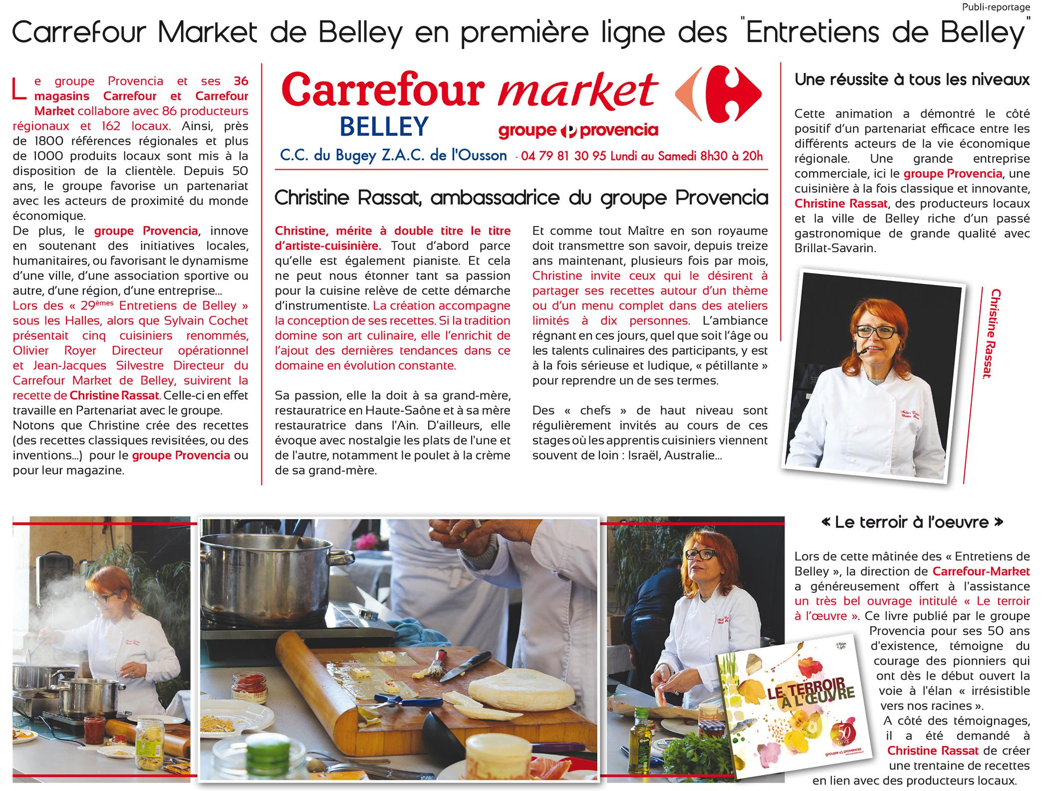 Carrefour Market Belley ballad et vous