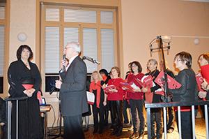 La chorale Chorus avec le Maire