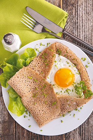 buckwheat crepe with egg