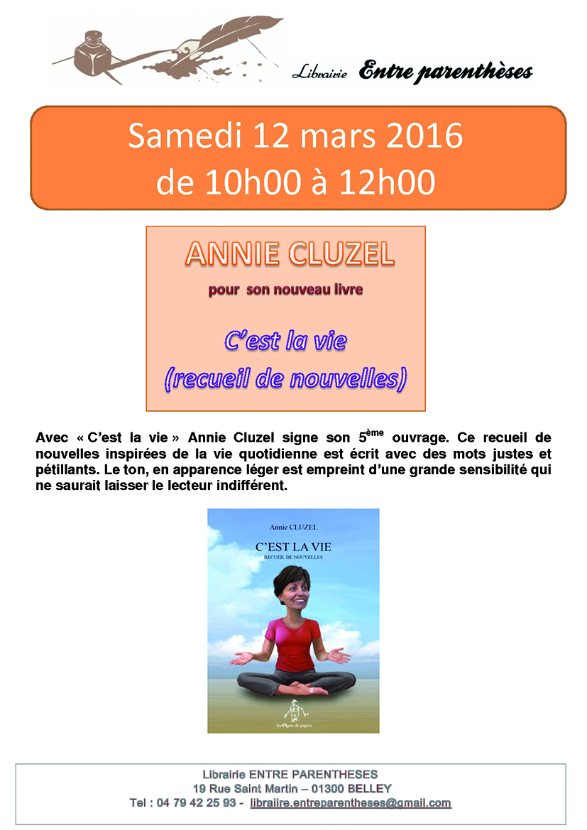 Annie Cluzel 12 mars 2016 ballad et vous
