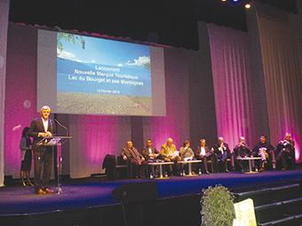 Les représentants du territoire du lac du Bourget réunis pour le lancement de la nouvelle marque touristique ballad et vous