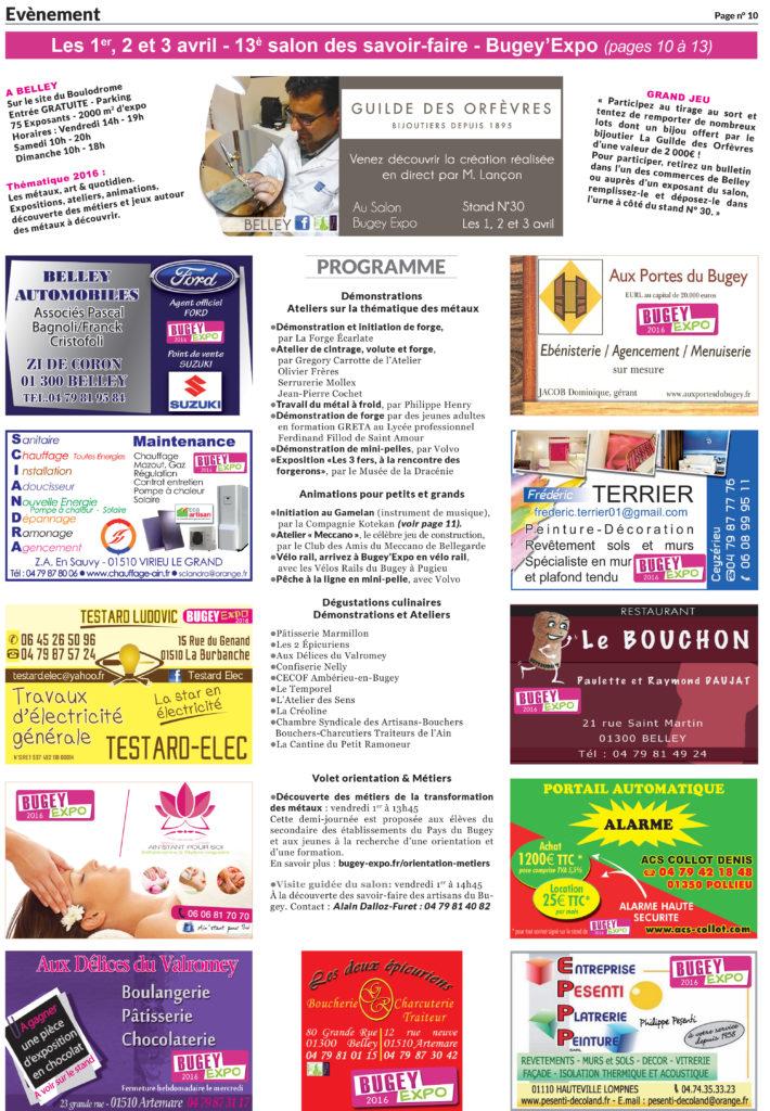 ballad et vous bugey expo 2016 le programme