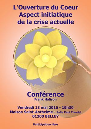 Belley Affiche conférence de Frank Halison