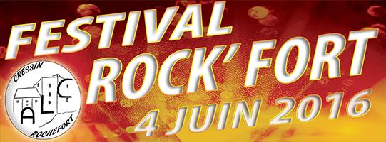 Festival rock'fort 2016 bannière