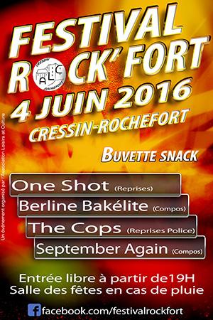 Festival rock'fort 2016 flyer ballad et vous