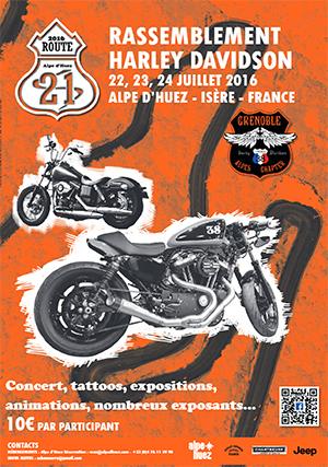 1er rassemblement Harley-Davidson à l'Alpe d'Huez ballad et vous