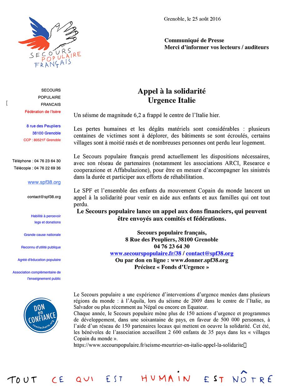 Microsoft Word - CP Urgence Italie.doc