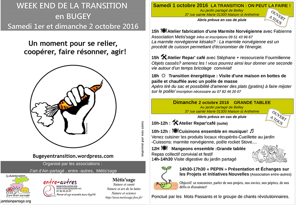 tract TRANSITION 2016 PRrogramme