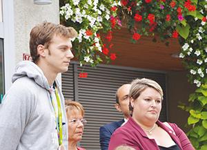 Christophe Lemaitre et Mme la députée