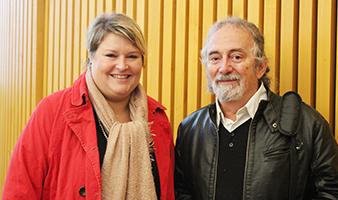 Stéphanie Pernod-Beaudon et Michel Bigoni, son ancien professeur