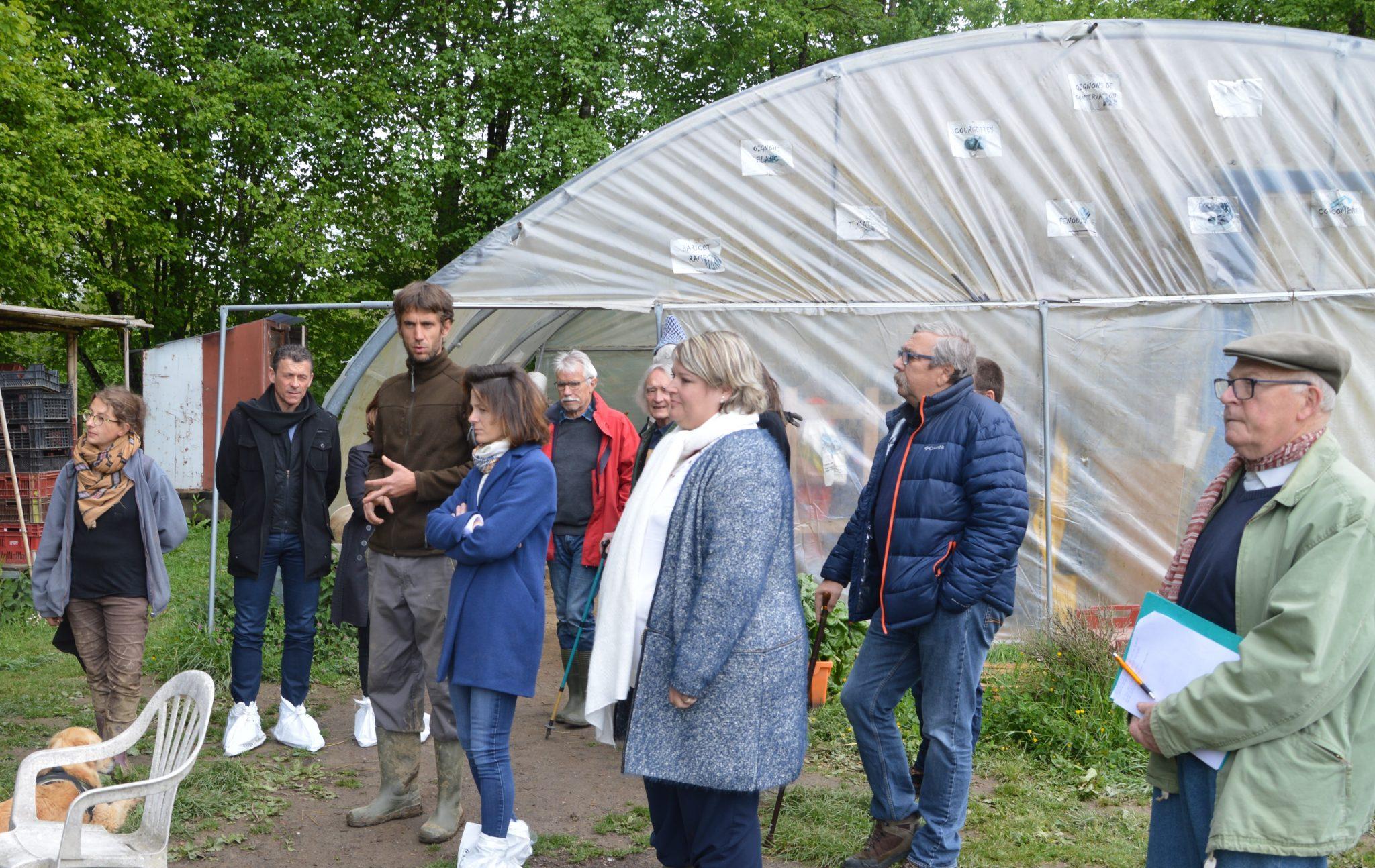Belley les Jardins de Cocagne visite de personnalités