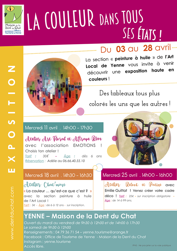 Maison De La Dent Du Chat  Expo  La Couleur Dans Tous Ses tats